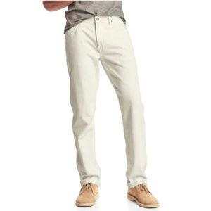 GAP Ivory Wash Denim Straight Leg Jeans Size 32x32